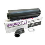 Beam Central Vac 030185 Sound Off Central Vac Muffler - Black