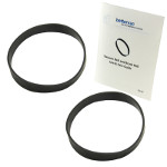 Black+Decker Airswivel Ultra Light Weight Vacuum Belt 2 Pack #12675000002729 Bundled With Use & Care Guide
