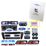 Power Wheels BBM94 Ford F-150 FX4 Decal Sheet #BBM94-0330 Bundled With Use & Care Guide