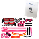 Power Wheels BFY96 Barbie Corvette Decal Sheet #BFY96-0310 Bundled With Use & Care Guide
